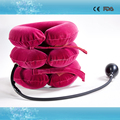 Inflatable soft neck and head support adjustable cervical collar for neck pain therapy