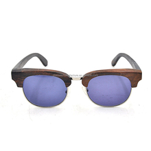 Most popular half frame handcrafted wooden bamboo eyewear sunglasses, factory custom uv400 polarized bamboo boxes