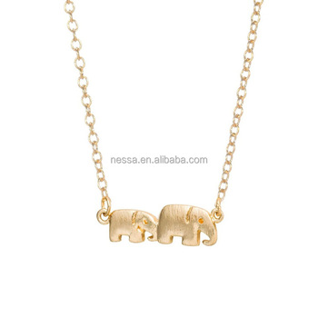 Fashion gold Elephant Necklace Wholesale NSYU-0004