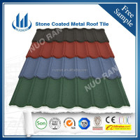 NUORAN Flat Shingle Mixed color Metal Tile/Cheap Price Stone Roof Tile for Sale