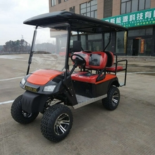4seats golf cart gas powered with folding cheap sale