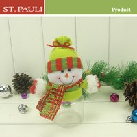 chenghai factory directly supplies transparent chocolate storage christmas plastic snowman container