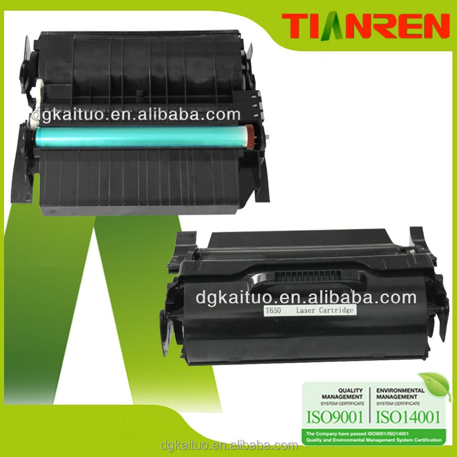 Best selling products new premium laser toner cartridge for Lexmarks printer T650 T652 T654 X651 X652 X654 X656 X658