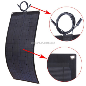 100W chinese factory directly sale high efficiency semi flexible solar panel portable panel for boat RV yachts