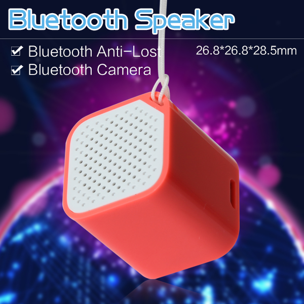 2016 NEW Mini Bluetooth speaker colorful multipoint rechargeable Square speaker, Wireless camera,
