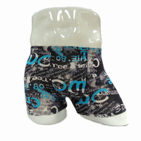 Class style 100% cotton printed mens cotton underwear with no elastic band