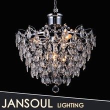 Crystal hanging pendant light liked rain drop lights in book room chandelier