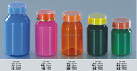 colored pet plastic pill medicine bottle with cap