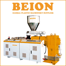 BEION Plastic machine Conical double screw extruder For PVC Pipe and profile extrusion