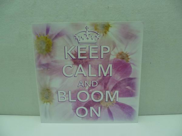table top decoration mdf spring wall plaque