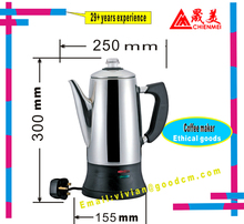 Electric Stainless Steel Coffee Percolator, Coffee Maker ,Automatic coffee percolator