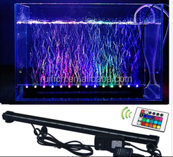 NEW SMD 62CM 6.5W Aquarium Fish tank BEAMING Underwater Submersible Air Bubble Safe Led Aquarium