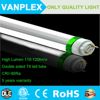 tube light high quality Double sided 8ft 36w led tube light with ROHS DLC CERTIFICATION