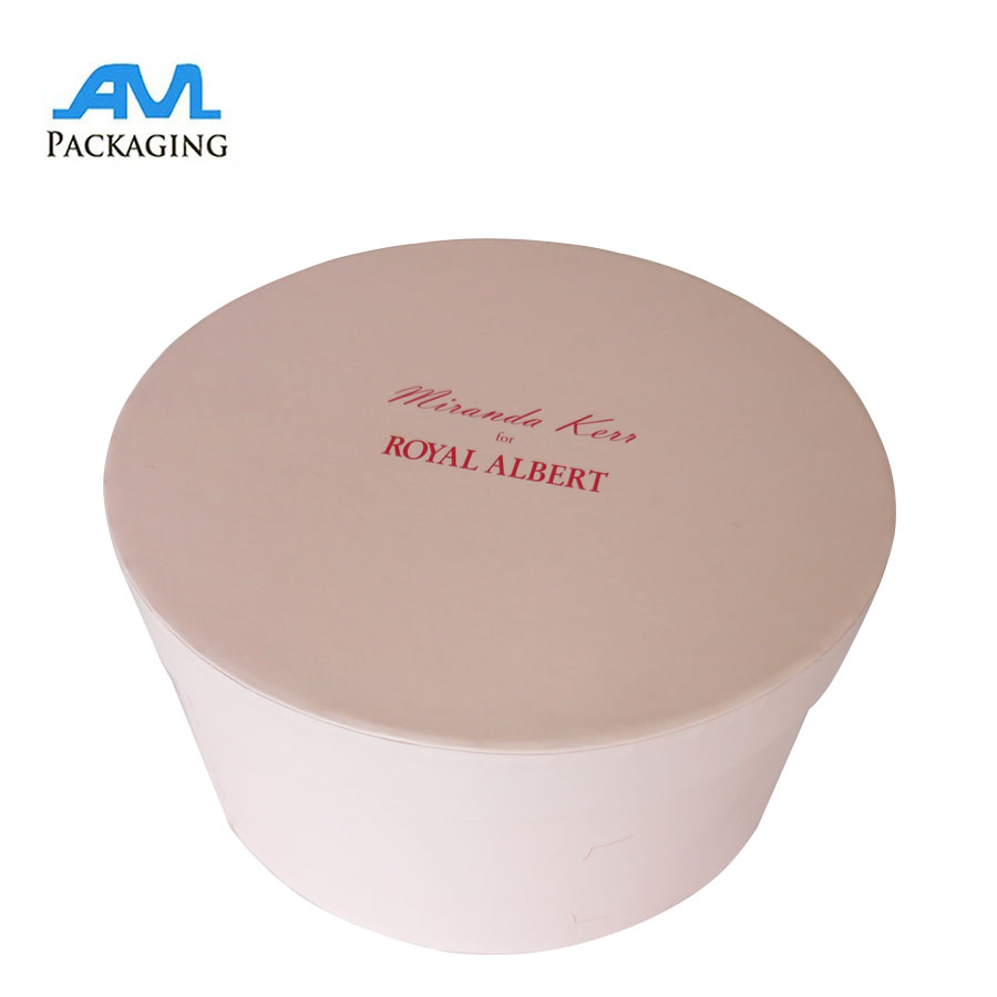 Empty Round Flat-top rigid teapot set paper packaging box with custom logo and size
