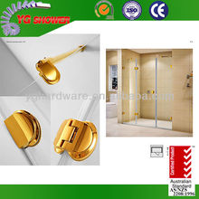 Frameless bathroom shower partition with sliding door