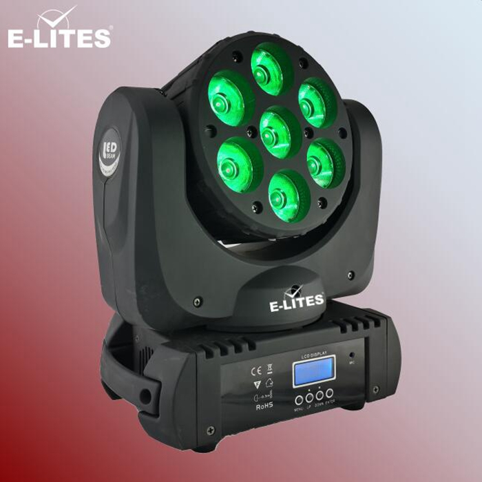 martin copy led moving head mini stage light,7*12W RGBW sharp beam wedding light