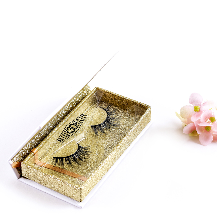 Custom eyelash box packaging  3d mink fur eyelashes 3d mink lashes invisible band 3d mink eyelashes