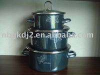 Porcelain Enamel Cookware Set With Mirror Face