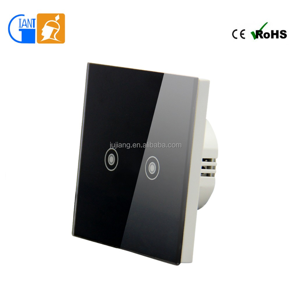 1 gang 2 gang new design smart home touch light wall switch with abs frame hot sale