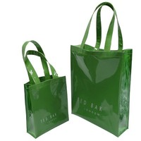 Eco friendly reusable shopping bag shiny PVC shopping bag customized bag high quality