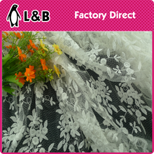 WW181A# white mesh floral net lace fabric wholesale tulle bridal lace fabric wholesale