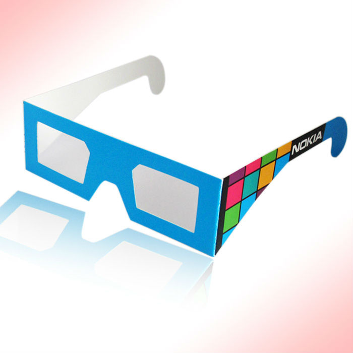 manufacturers of disposable logo design real 3d glasses video
