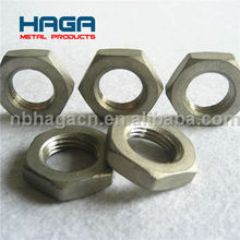 Stainless Steel Threaded Pipe Fitting Hex Nut