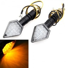 MOTORCYCLE UNIVERSAL LED TURN SIGNALS STALK MOTO INDICATOR LIGHTS 17 LED 2