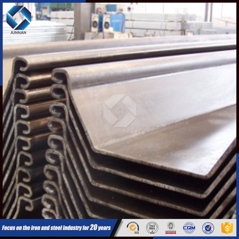 Japanese Standard SY295 U-shaped Steel Sheet Pile for construction