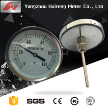 "2"" 3"" 4"" 50mm, 75mm, 100mm, 304 / 316 / 316L / 11Cr18Ni9Ti High Or Low Temperature Bi-metal Coil Bimetal Bimetalic Thermometer"