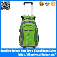 China supplier high quality travel school trolley backpack,rolling backpack,wheeled school backpack