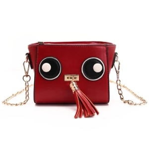 Hot Sales Factory Wholesale 2018 Shenglu New Coming Girlish Student's Big Eyes Tassel Small Square Sling Shoulder Crossbody Bag