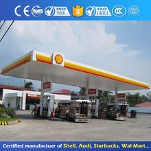 Anti Wind Steel Structure Petrol Station Canopy