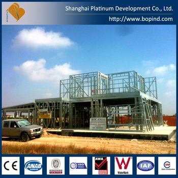 LGS steel frame modular homes with Australian code AWA and CE certificate