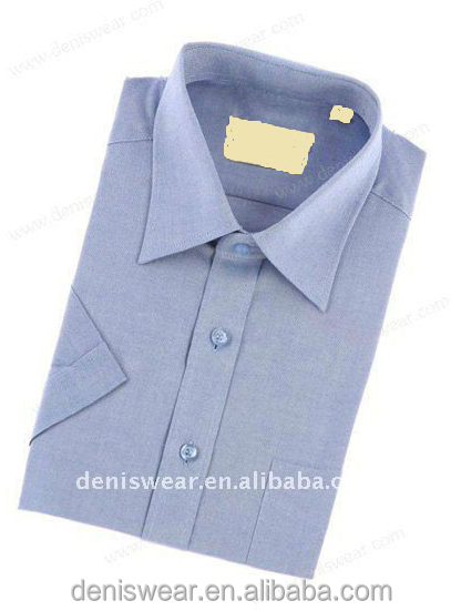 mens cotton oxford short sleeves shirt