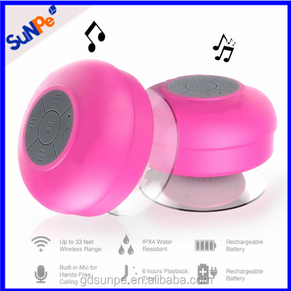 Electronic Gadgets IPX4 BTS-06 Portable Stereo Speakers Wireless Water Resistant Waterproof Bluetooth Shower Speaker