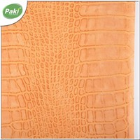 1mm yangbuck PU faux crocodile leather for bags with green standard