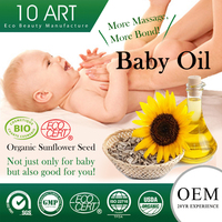 Private label Ecocert USDA Certification Organic Baby Massage sunflower seed Oil