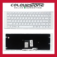 Original New For Sony Vaio VPC EA VPC-EA seiries laptop US keyboard White color frame
