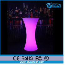innovative bar and pub furniture, led color party/salon/bar night tables