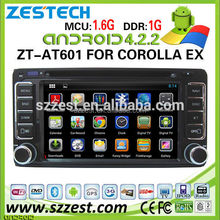 ZESTECH Factory Car assessories for Toyota Universal Android Car dvd with GPS WIFI Bluetooth Radio AM/FM 3G DVD A9 PROCESSOR