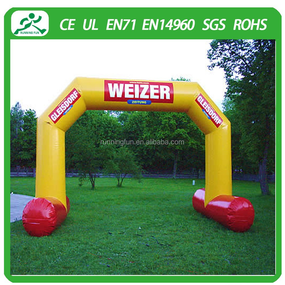 Popular inflatable racing arch/inflatable advertising arch/led inflatable arch for sale