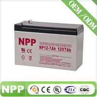 12v 7ah lead acid battery with ISO CE UL Certificate