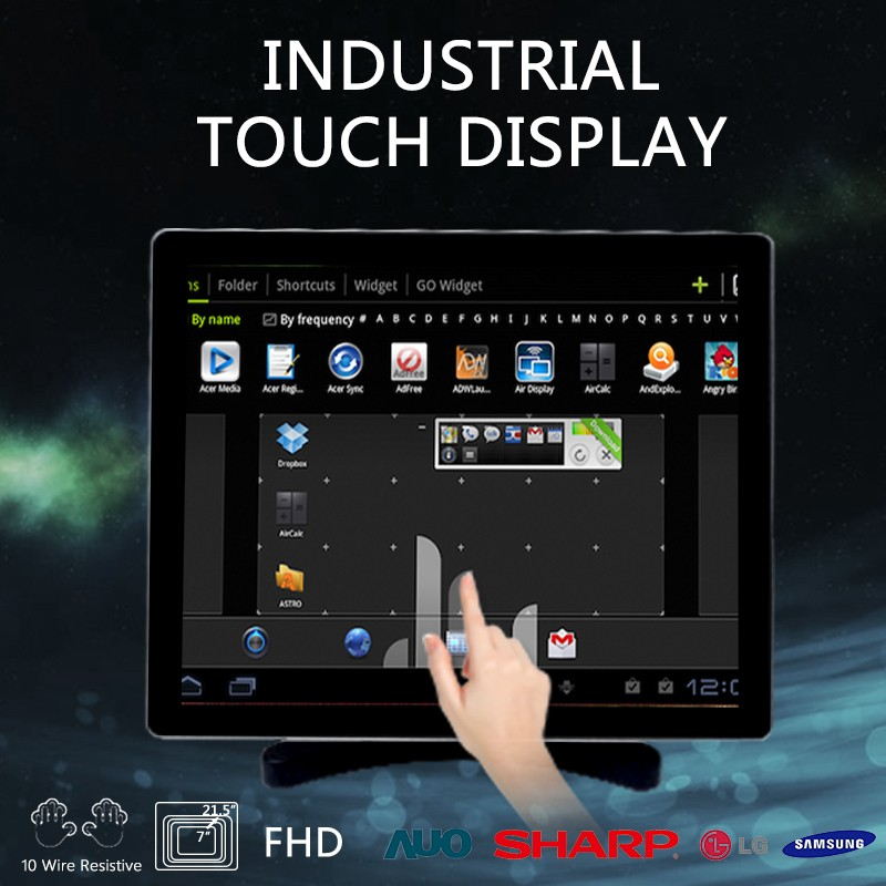 12.1 inch industrial touch screen panel pc tablet lcd touch screen monitor