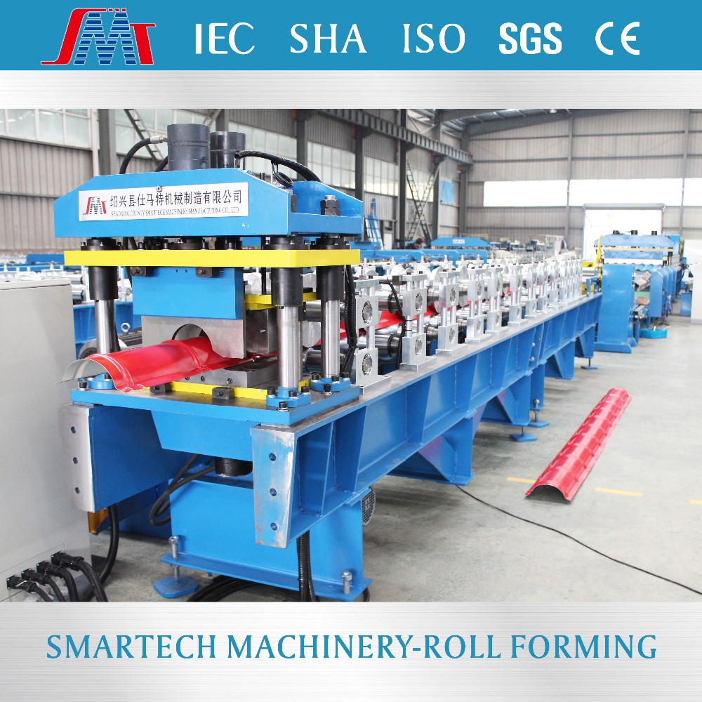 Metal roof ridge round cap cold roll forming machine for sale