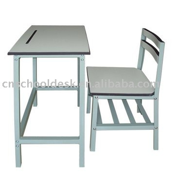 MDF school table set/wooden school furniture