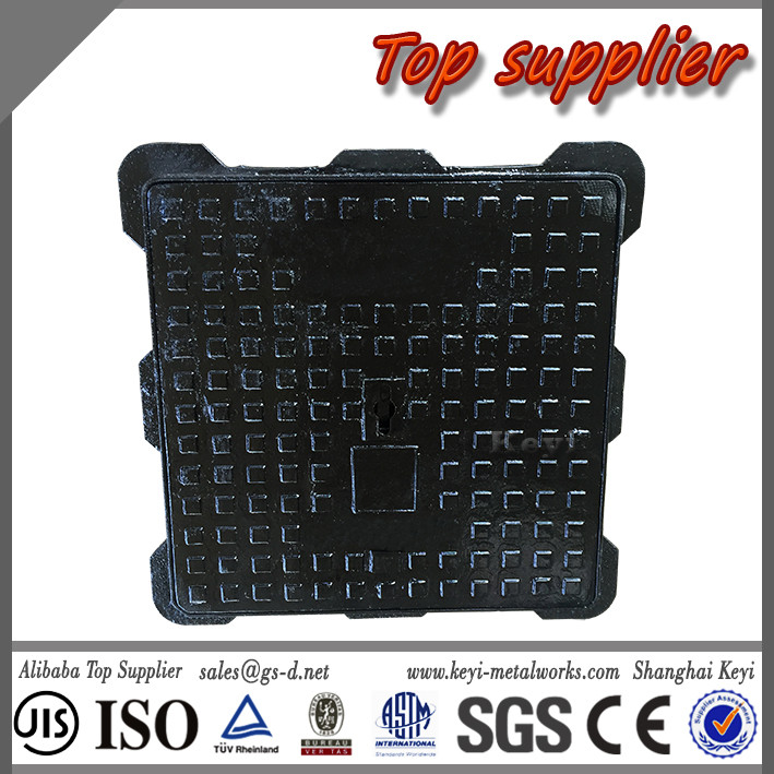 Trade Assurance Top Supplier Clay Sand Casting Square Manhole Cover