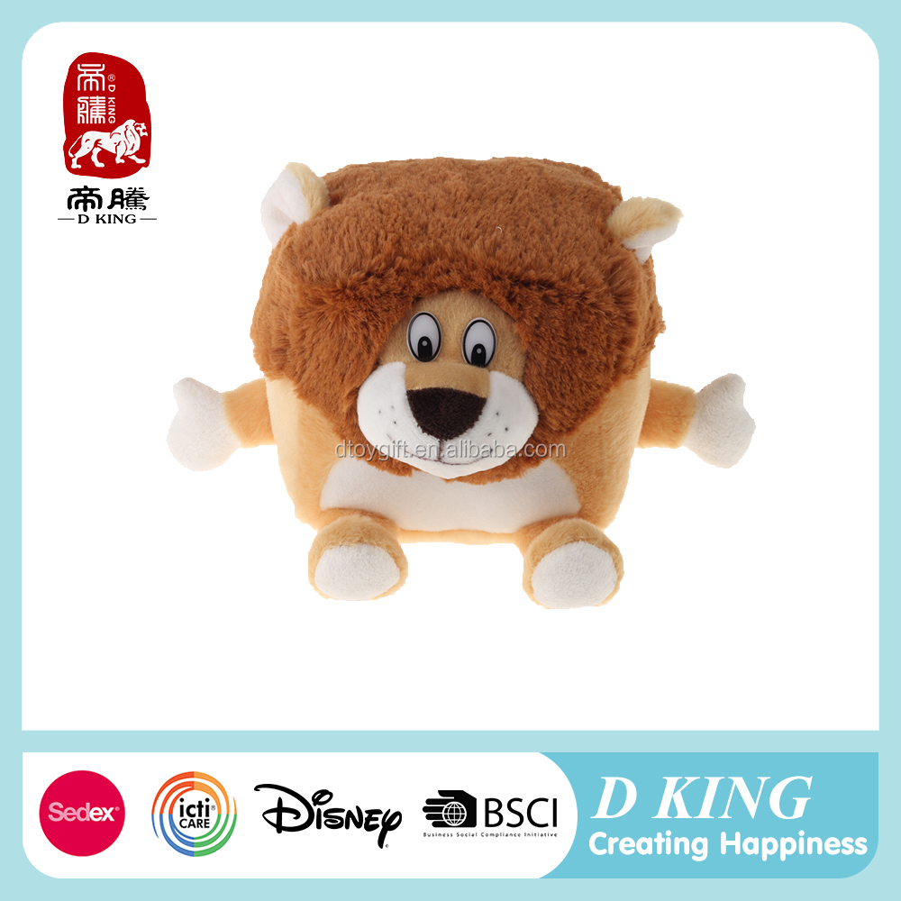 2015 Chinese supplier new designed plush stuffed brown lion toys plush phone holder