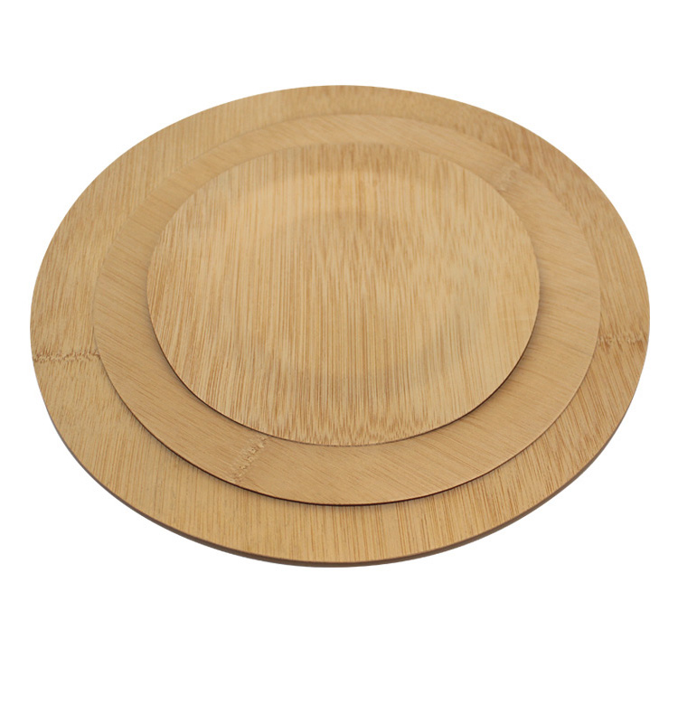 Natural Round Shape Bamboo <strong>Plates</strong> Disposable with Variety Size