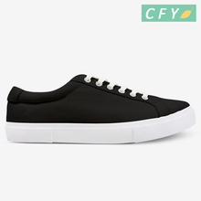 Hot sale man canvas casual shoes with new design customized logo rubber sole footwear